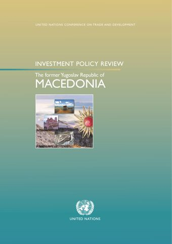 image of Investment Policy Review - The Former Yugoslav Republic of Macedonia