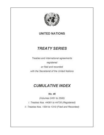 image of Treaty Series Cumulative Index No. 46