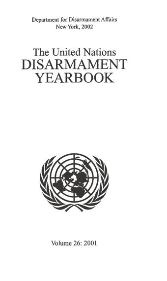image of United Nations Disarmament Yearbook 2001