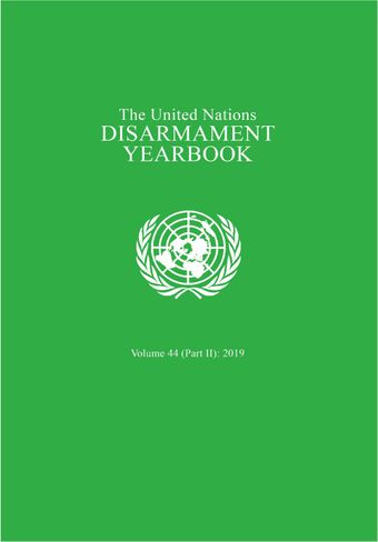 image of United Nations Disarmament Yearbook 2019: Part II