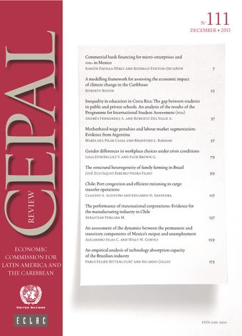 CEPAL Review No. 111, December 2013