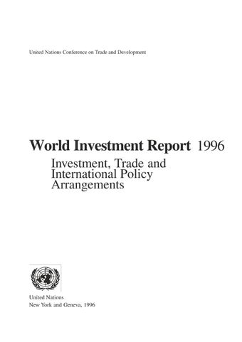 image of World Investment Report 1996