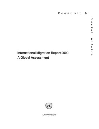 image of International Migration Report 2009