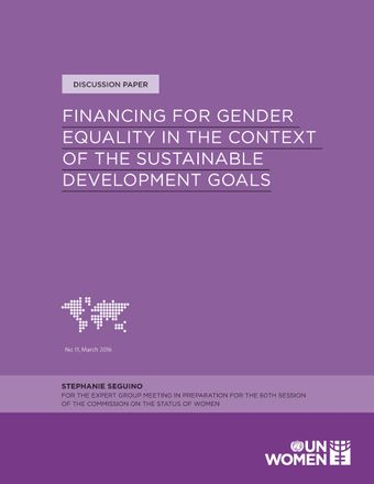 image of Financing for Gender Equality in the Context of the Sustainable Development Goals