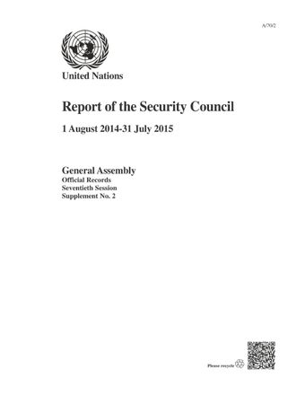 image of Work of the subsidiary bodies of the Security Council