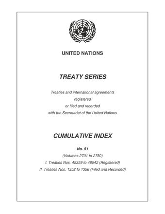 image of Treaty Series Cumulative Index No. 51