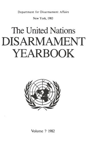 image of United Nations Disarmament Yearbook 1982