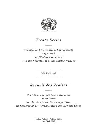 image of Treaty Series 2237