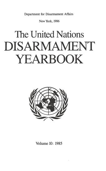 image of United Nations Disarmament Yearbook 1985