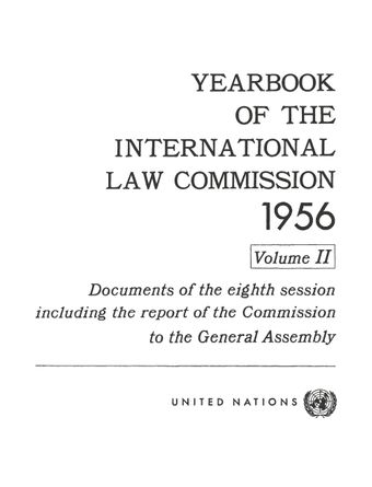 image of Yearbook of the International Law Commission 1956, Vol. II