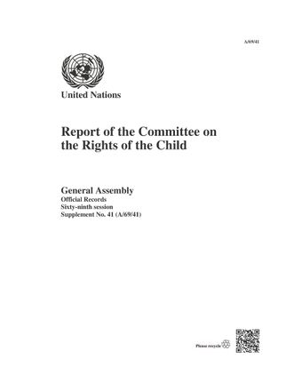 image of Report of the Committee on the Rights of the Child