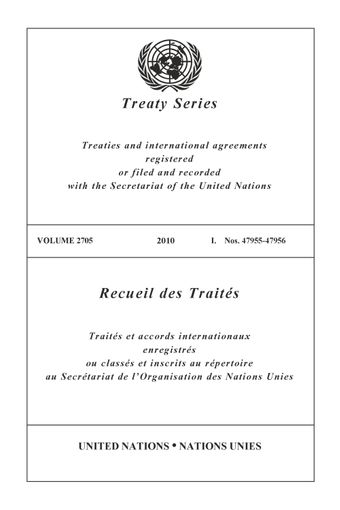 image of Treaty Series 2705
