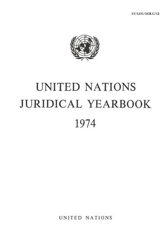 image of Legislative texts concerning the legal status of the United Nations and related intergovernmental organizations
