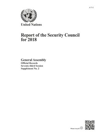 image of Report of the Security Council 2018