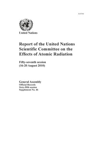 image of Report of the United Nations Scientific Committee on the Effects of Atomic Radiation (UNSCEAR) 2010