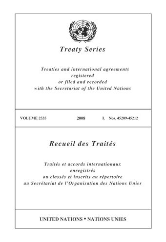 image of Treaty Series 2535