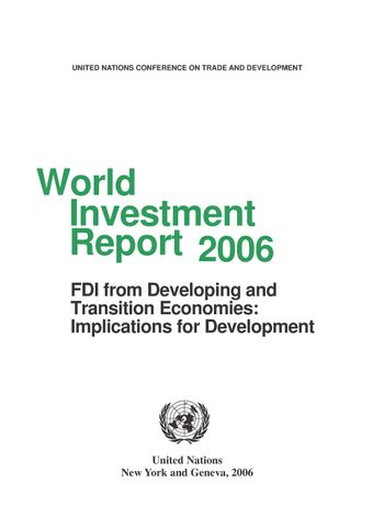 image of World Investment Report 2006