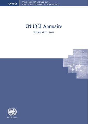 image of Commission des Nations Unies pour le droit commercial international (CNUDCI) Annuaire 2012