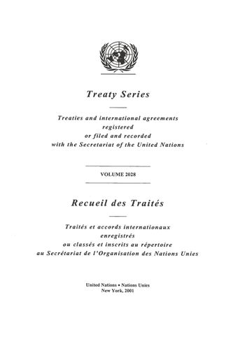 image of Treaty Series 2028