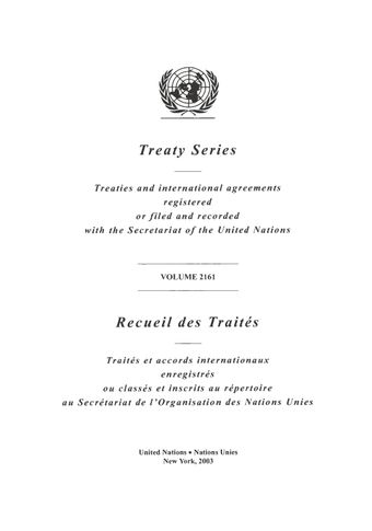 image of Treaty Series 2161
