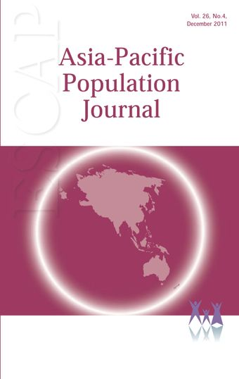 Asia-Pacific Population Journal, Vol. 26, No. 4, December 2011