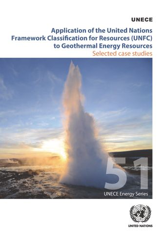 image of Application of the United Nations Framework Classification for Resources (UNFC) to Geothermal Energy Resources