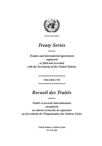 image of Treaty Series 1739