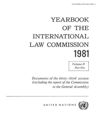 image of Yearbook of the International Law Commission 1981, Vol. II, Part 1