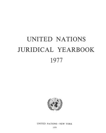 image of United Nations Juridical Yearbook 1977
