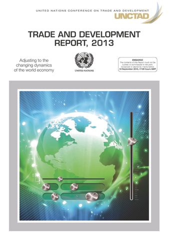 image of Trade and development report 2013