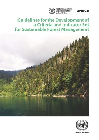 image of Guidelines for the Development of a Criteria and Indicator Set for Sustainable Forest Management