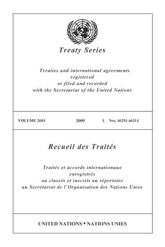image of Treaty Series 2603