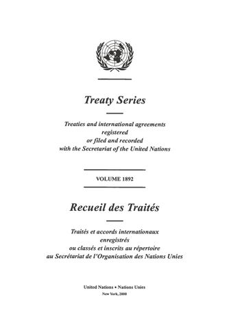 image of Treaty Series 1892
