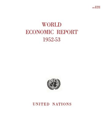 image of World Economic Report 1952–1953