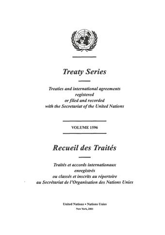 image of Treaty Series 1596