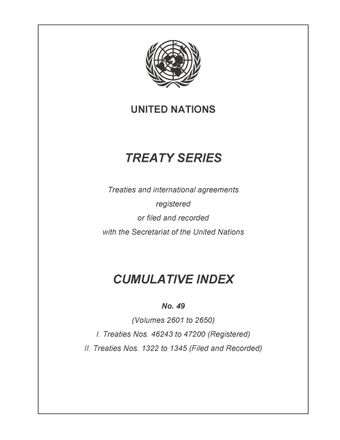 image of Treaty Series Cumulative Index No. 49