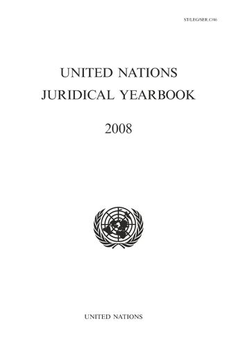 image of United Nations Juridical Yearbook 2008