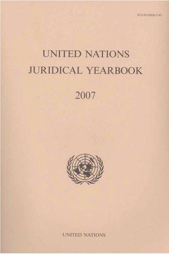image of United Nations Juridical Yearbook 2007