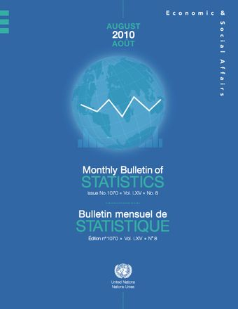 image of Monthly Bulletin of Statistics, August 2010