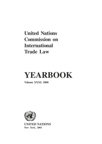 image of United Nations Commission on International Trade Law (UNCITRAL) Yearbook 2000