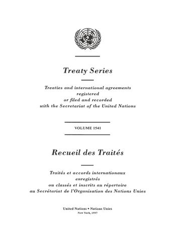 image of Treaty Series 1541