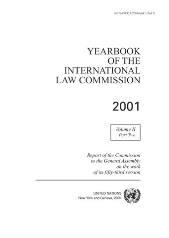 image of Yearbook of the International Law Commission 2001, Vol. II, Part 2
