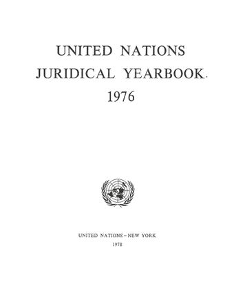 image of United Nations Juridical Yearbook 1976