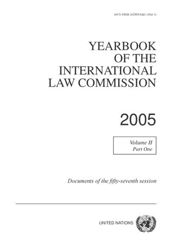 image of Yearbook of the International Law Commission 2005, Vol. II, Part 1