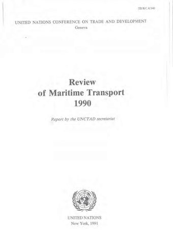 image of Review of Maritime Transport 1990