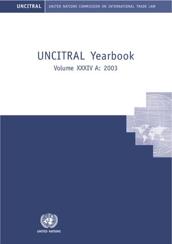 image of United Nations Commission on International Trade Law (UNCITRAL) Yearbook 2003 (A & B)