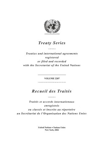image of Treaty Series 2207