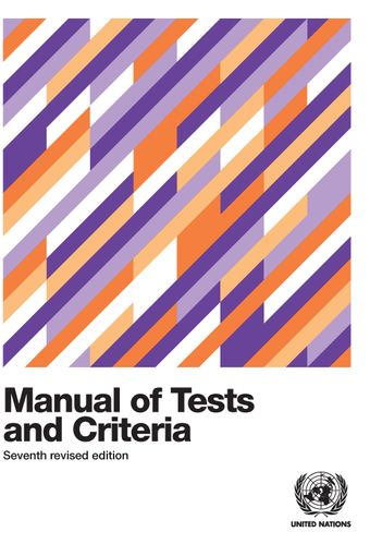 image of Manual of Tests and Criteria - Seventh Revised Edition