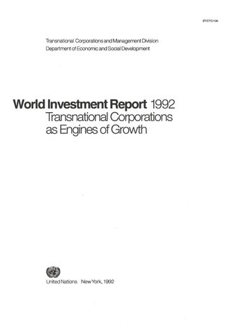 image of World Investment Report 1992