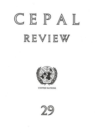 CEPAL Review No. 29, August 1986